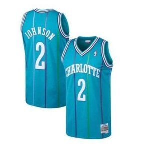 Charlotte Hornets Larry Johnson Green Jersey